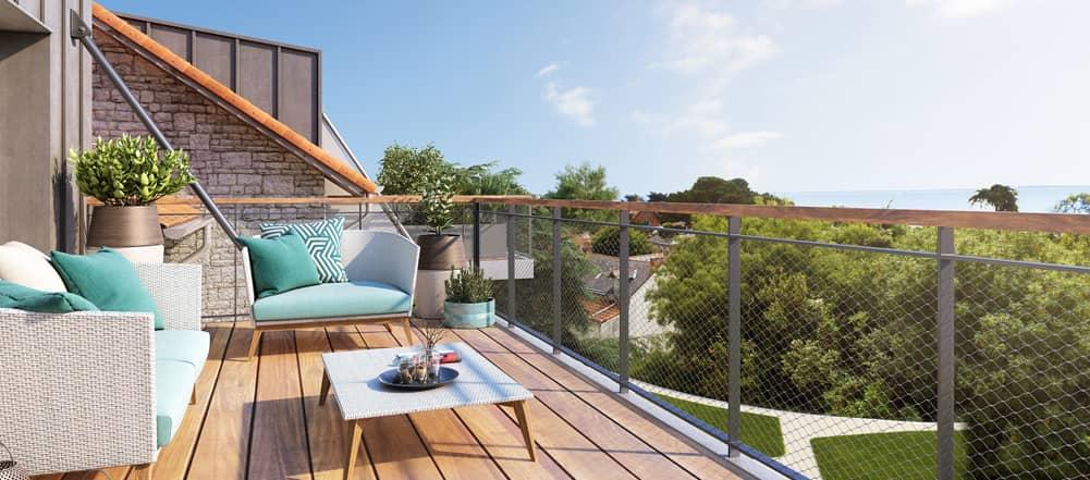Investir mon épargne dans un appartement avec terrasse en démembrement de propriété en France site internet catalogue logements